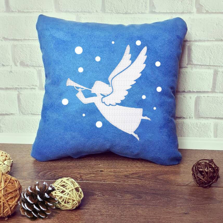 """Новогодняя подушка """"Новогодний ангел"""" 12"""