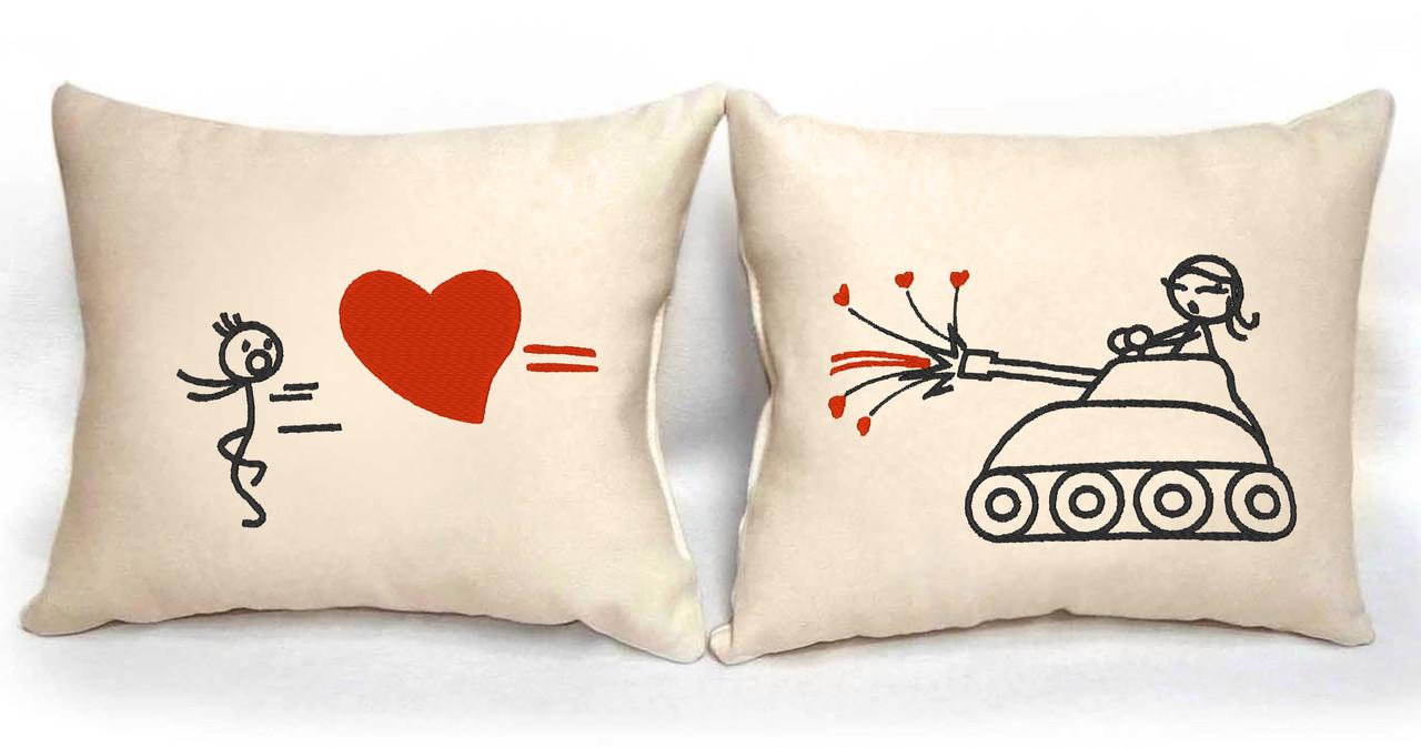 "Набір з двох подушок №92 ""Забійна любов"""