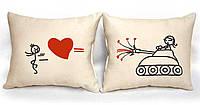 """Набір з двох подушок №92 """"Забійна любов"""", фото 1"""