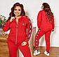 """Жіночий спортивний костюм у великих розмірах 1009 """"Пума Лампаси"""" в кольорах, фото 8"""