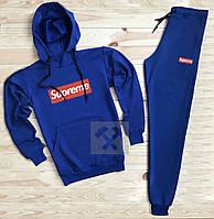Спортивный мужской костюм Supreme (Супрем), синий, код OW-2060