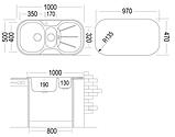 Кухонная мойка Ukinox GАР 1000.500.15 GW 8K, фото 2