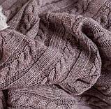 Покрывало вязаное КЛАССИК 200x210 капучино Vividzone (бесплатная доставка), фото 7