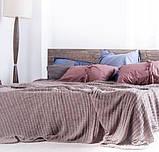 Покрывало вязаное КЛАССИК 200x210 капучино Vividzone (бесплатная доставка), фото 8