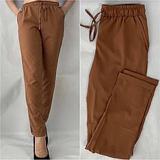 Женские летние штаны, №13 желто-коричневый