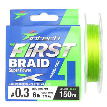 Шнур Intech First Braid x4 Green