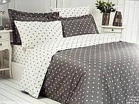 Комплект постельного белья Maison D'or Stars Grey сатин 220-200 см серый