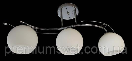 Люстра стельова на три лампи 7401B/3 МА