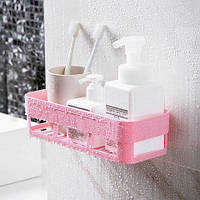 Полиця на присосках для ванної ПРЯМОГУГОЛЬНАЯ Bathroom Shelves