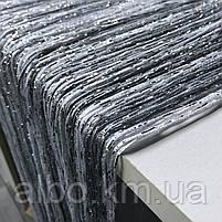Нитки штори на кухню з люрексом 300x280 cm Сіро-білий (NL-311), фото 3