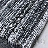 Нитки штори на кухню з люрексом 300x280 cm Сіро-білий (NL-311), фото 2
