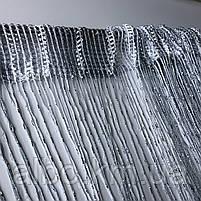 Нитки штори на кухню з люрексом 300x280 cm Сіро-білий (NL-311), фото 6