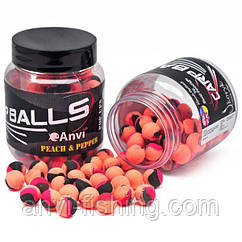 Бойлы Carp Balls Anvi Pop Ups Ø10 мм - Peach&Pepper (Персик и перец)