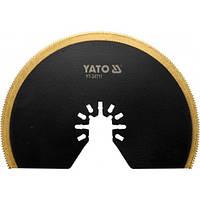 Полотно-насадка для реноватора YT-82220 YATO дерево/металл полудиск 100мм