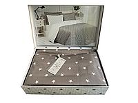 Комплект постельного белья Maison D'or Stars Beige сатин 220-200 см бежевый