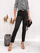 Классические брюки женские средней посадки ткань люксовая костюмка: чёрные, белые, бежевые