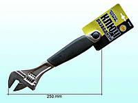 Ключ розв. гумова ручка (250мм) 76-0123 ТМ MASTER TOOL