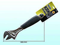 Ключ розв. гумова ручка (300мм) 76-0124 ТМ MASTER TOOL