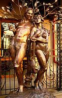 "Фонтан ""Адам и Ева"" из меди"