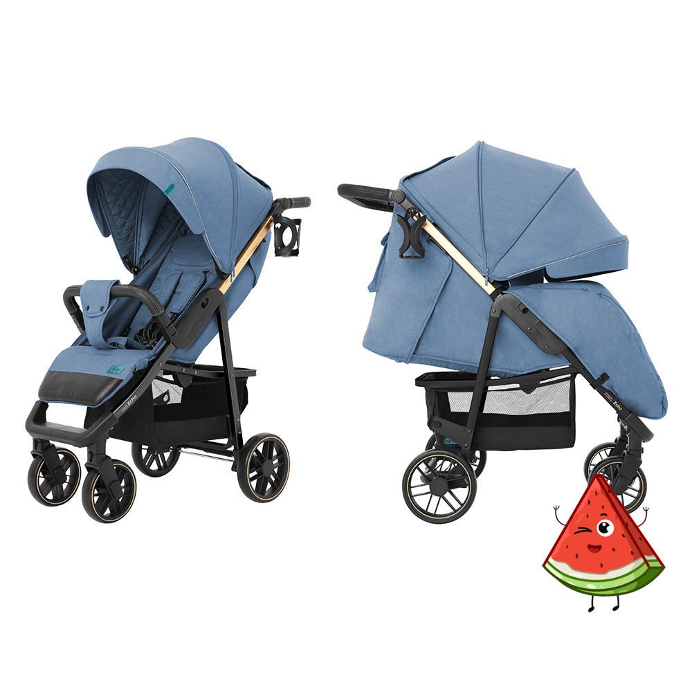 Прогулочная коляска CARRELLO Echo CRL-8508/2 с дождевиком, Azure Blue