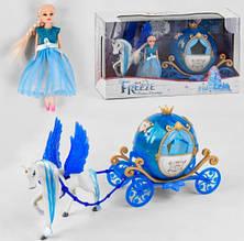 Лялька Frozen з каретою і ходить конем