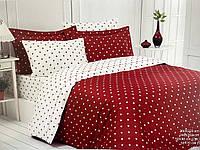 Комплект постельного белья Maison D'or Stars Red сатин 220-200 см красный