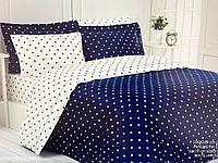 Комплект постельного белья Maison D'or Stars Navy сатин 220-200 см синий