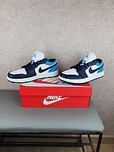 Женские кроссовки Nike Air Jordan 1 Low Obsidian Найк Аир Джордан Ретро 1 Лов