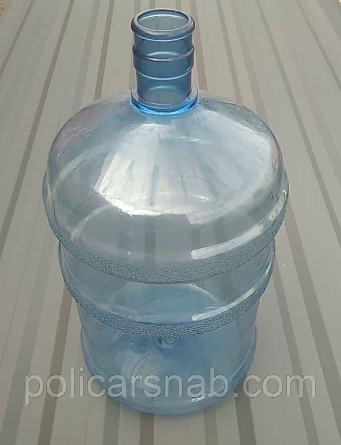 Бутыль для воды поликарбонатный БУ 18,9 литров без ручки с крышкой ПЕТ для кулера под помпу