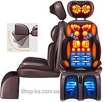 Мощный массажёр накидка Benbo для спины,шеи,тела, роликовый,шиацу,прогрев,вибро и 8D  и 9D  массаж