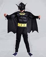 Детский карнавальный костюм для мальчиков Бетмен Batman Бэтмена с мышцами р.105-135