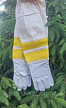 Перчатки   кожаные с нарукавниками для пчеловода.