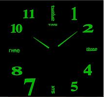 Люминесцентные Светящиеся Фосфорные 3Д часы 3D DIY Clock от 70 до 150см 003F Английские слова