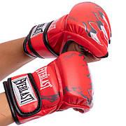 Перчатки для смешанных единоборств MMA PU EVERLAST BO-3207 L, Красный