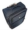 Дорожный чемодан тканевый на четырех колесах синий 70х40х24, фото 3