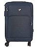 Чемодан тканинний на 4-х колесах W. ZGKISS 9191 Синій, фото 2