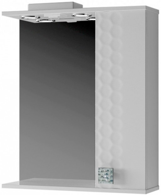 Дзеркало з 3Д декором для ванної 60 см ВанЛанд НЕО Н3 1-60