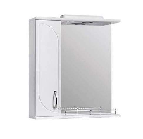 Зеркало в ванную 60 см с ограждением полки Квелл РОНДО Z1 Рондо Левое 60, фото 2