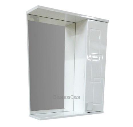 Дзеркало з прямим фасадом для ванної 65 см ВанЛанд ОЛЕКСАНДРІЯ Аз 3-65