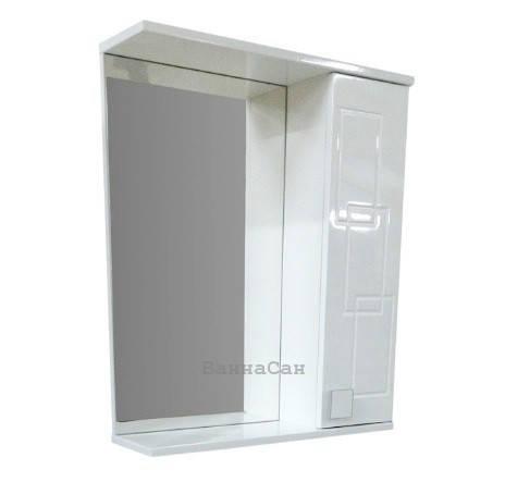 Дзеркало з прямим фасадом для ванної 65 см ВанЛанд ОЛЕКСАНДРІЯ Аз 3-65, фото 2
