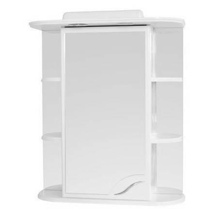 Зеркальный шкаф в ванную комнату 60 см с подсветкой ПИК Базис ДЗШ0360, фото 2