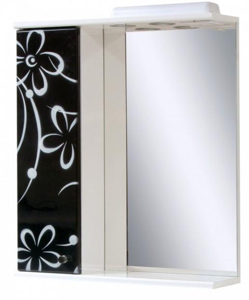 Дзеркало у ванну кімнату 60 см з ромашками ПІК БАЗИС ДЗ0160LА БІЛО-ЧОРНА РОМАШКА