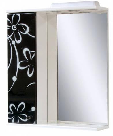 Дзеркало у ванну кімнату 60 см з ромашками ПІК БАЗИС ДЗ0160LА БІЛО-ЧОРНА РОМАШКА, фото 2