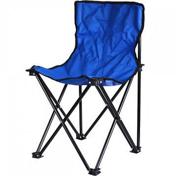 Стілець розкладний маленький в чохлі для риболовлі, пікніка, кемпінгу 60х32х32 см кол.блакитний (СР-03)