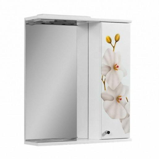 Дзеркало у ванну кімнату 60 см з орхідеями ПІК БАЗИС ДЗ0160RА ОРХІДЕЯ