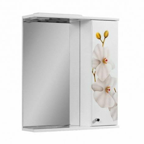 Дзеркало у ванну кімнату 60 см з орхідеями ПІК БАЗИС ДЗ0160RА ОРХІДЕЯ, фото 2