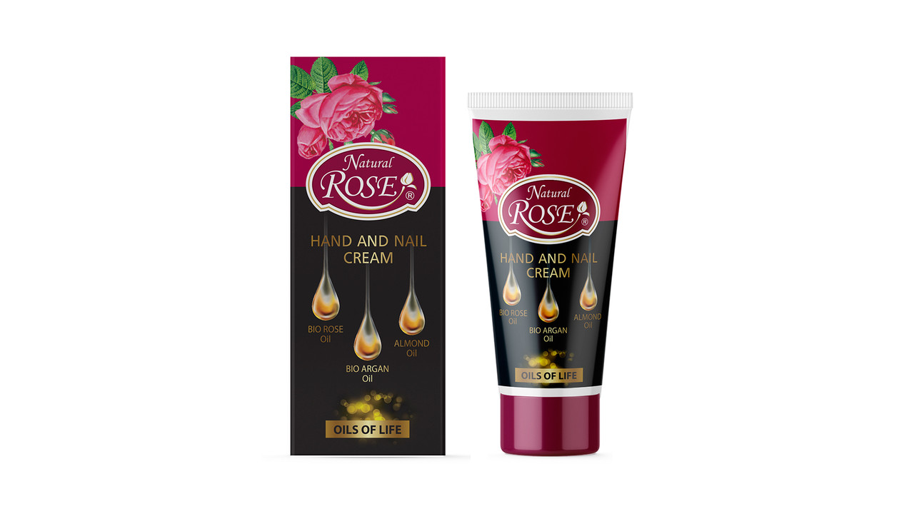 Крем для рук і нігтів з маслом троянди Oils of Life від Arsy Cosmetics 50 мл