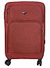 Чемодан тканинний на 4-х колесах W. ZGKISS 9191 червоний, фото 2