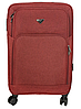 Дорожный чемодан тканевый на четырех колесах красный 70х40х24, фото 2