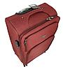 Дорожный чемодан тканевый на четырех колесах красный 70х40х24, фото 3